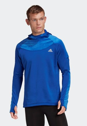 OWN THE RUN WARM HOODIE - Hættetrøjer - blue