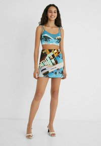 Desigual - DESIGNED BY ESTEBAN CORTAZAR - Mini skirt - blue - 1