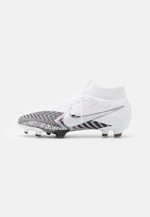 MERCURIAL 7 PRO MDS FG - Moulded stud football boots - white/black