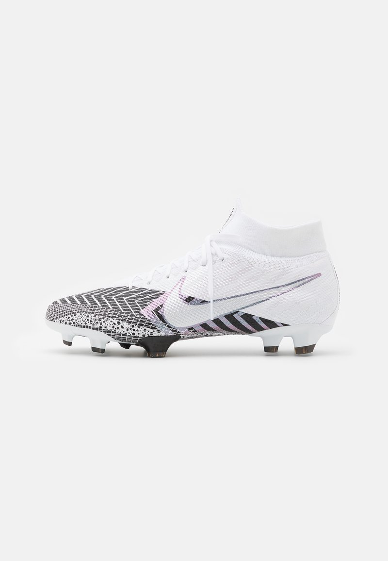 Nike Performance - MERCURIAL 7 PRO MDS FG - Moulded stud football boots - white/black