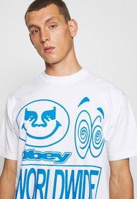 Obey Clothing - ACID CRASH - Print T-shirt - white - 4