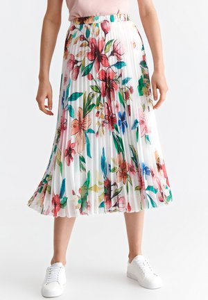 MERIDIANA  - A-line skirt - off white