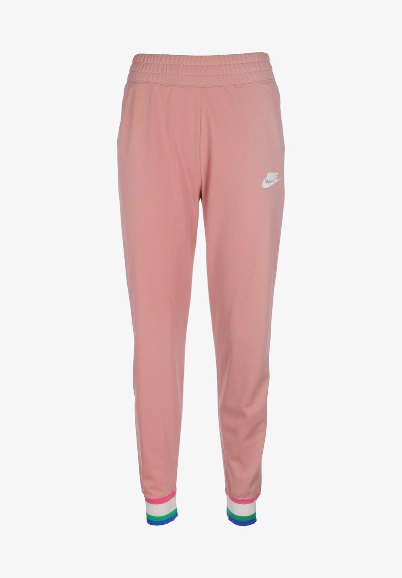 Nike Sportswear - Tracksuit bottoms - rust pink/white