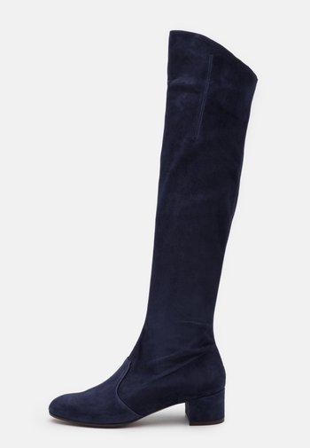 BOOT ZIP - Kozačky nad kolena - abyss
