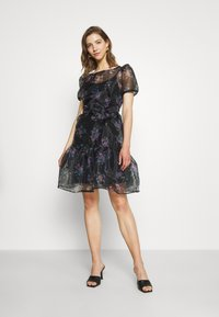 Vila - VIORGA SHORT DRESS - Cocktail dress / Party dress - black - 1