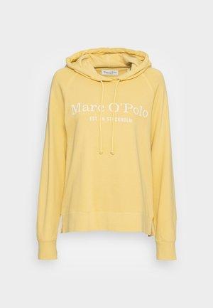 RAGLAN SLEEVE HOODED RIB DETAILS - Sweatshirt - dusty lemon