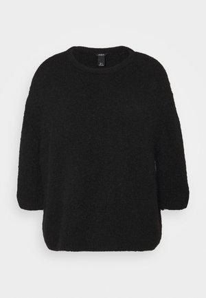 EDINA - Stickad tröja - black