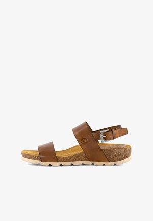 VERA  - Wedge sandals - cognac