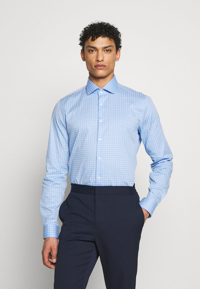 PARMA SLIM FIT SQUARE PRINT - Zakelijk overhemd - light blue