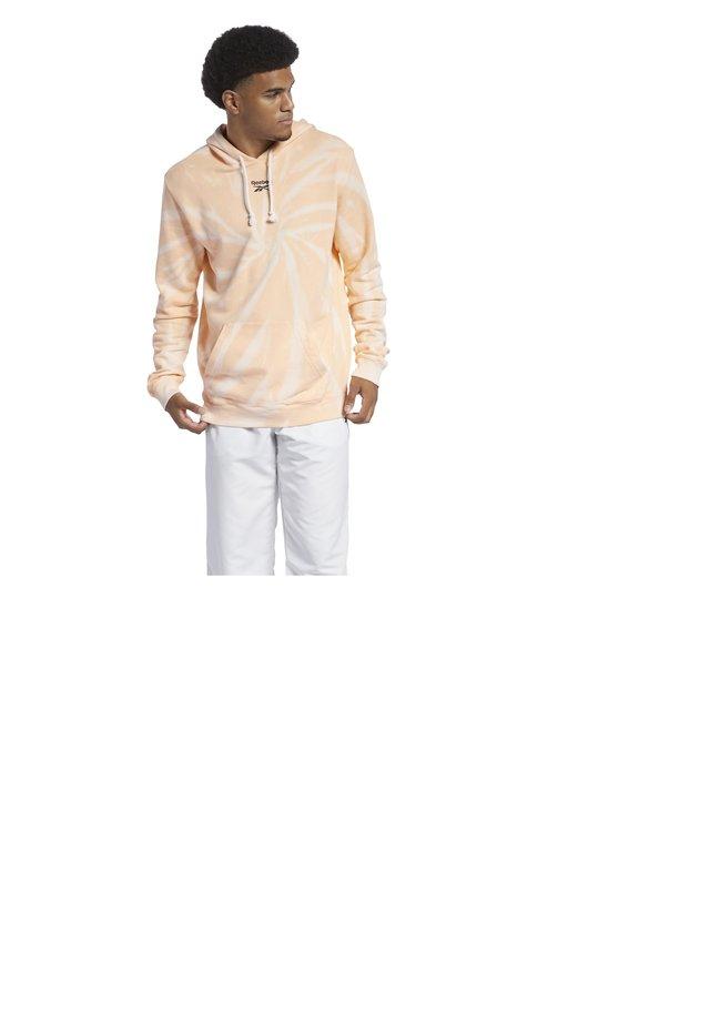 CLASSIC TIE DYE SEASONAL CASUAL HOODIE - Sweatshirt - aura orange