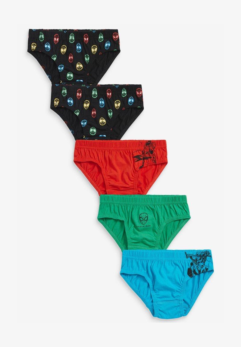 Next - SPIDER-MAN 5 PACK BRIEFS (1.5-8YRS) - Underwear set - black