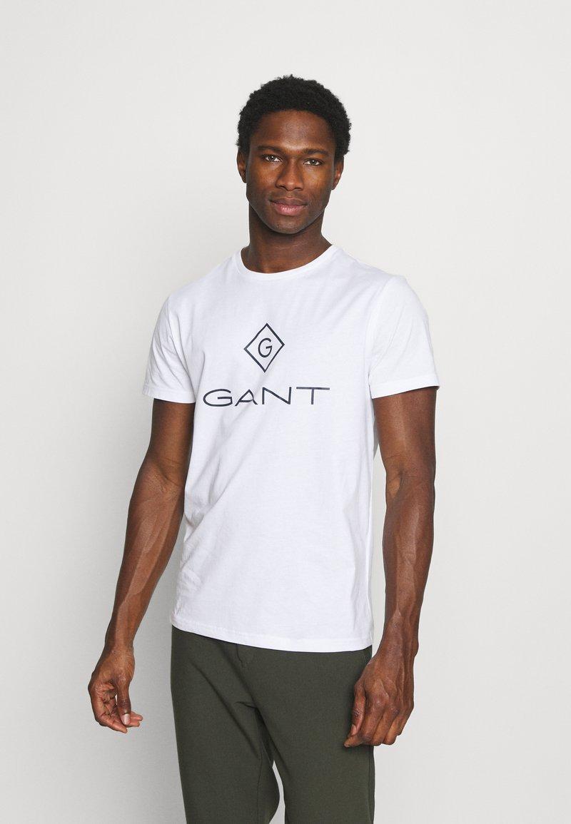 GANT - LOCK UP - T-shirt med print - white
