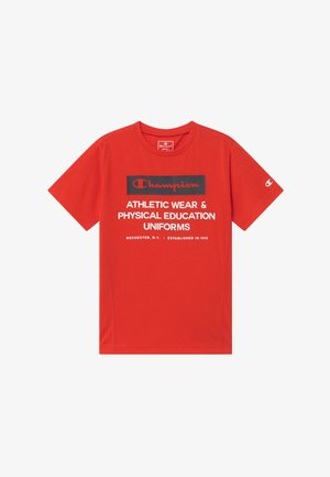 CHAMPION X ZALANDO BOYS PERFORMANCE TEE - Print T-shirt - red