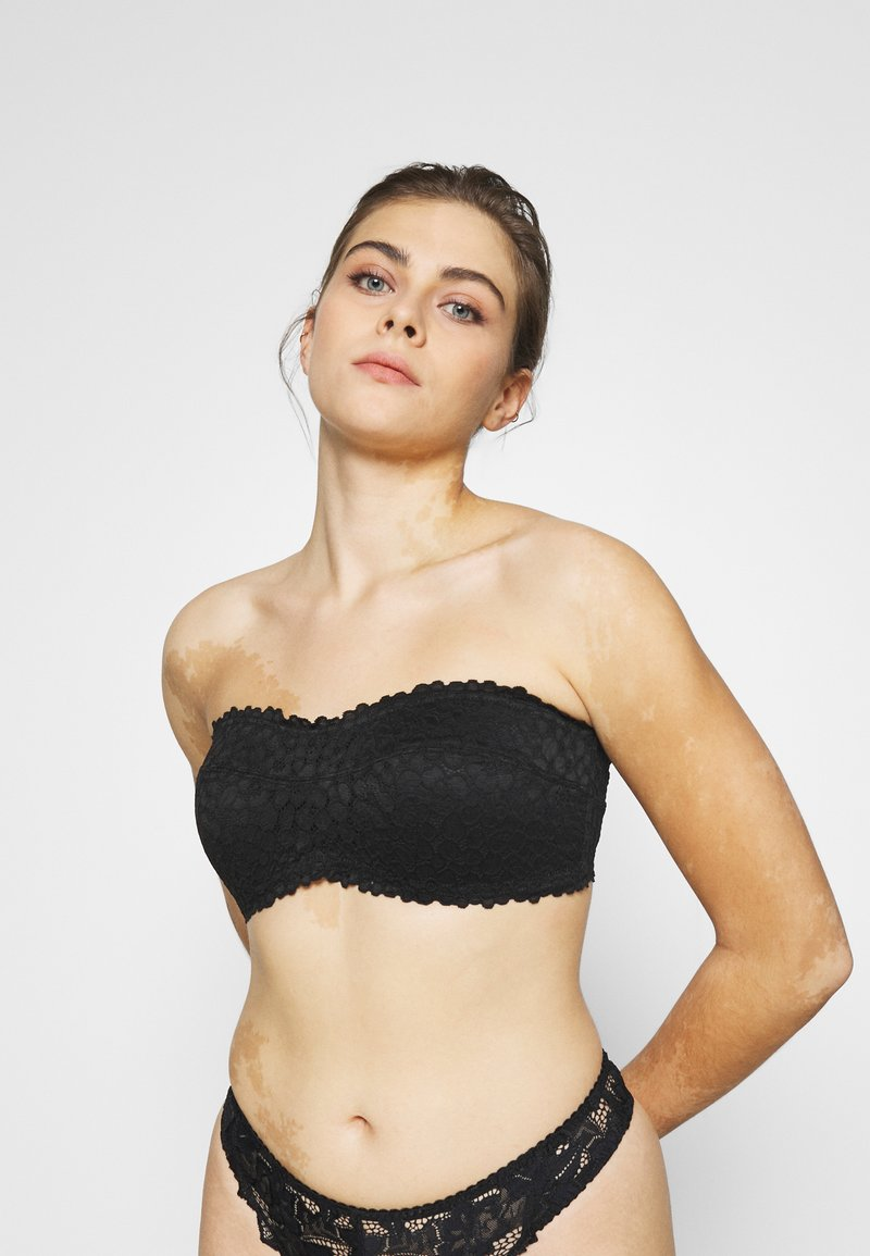 aerie - EXCLUSIVE PADDED REAL GOOD BANDEAU - Bustier - true black