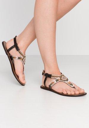 PSCAMMA  - T-bar sandals - misty rose