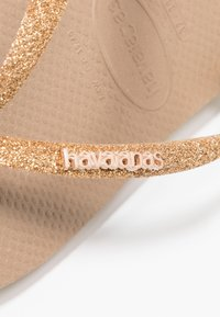 Havaianas - SLIM GLITTER - Pool shoes - rose gold - 2