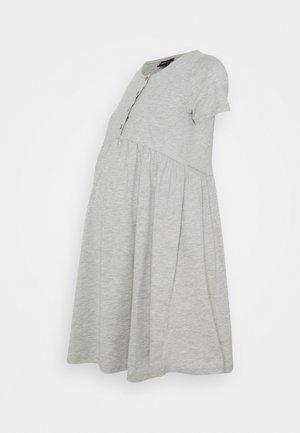 OLMLILLI BADYDOLL DRESS - Jersey dress - light grey melange