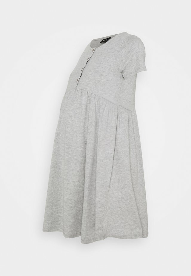 OLMLILLI BADYDOLL DRESS - Jerseykjoler - light grey melange