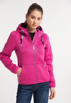 Fleece jacket - pink melange