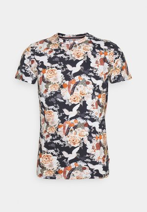KRANICH JAPAN - T-shirt med print - navy