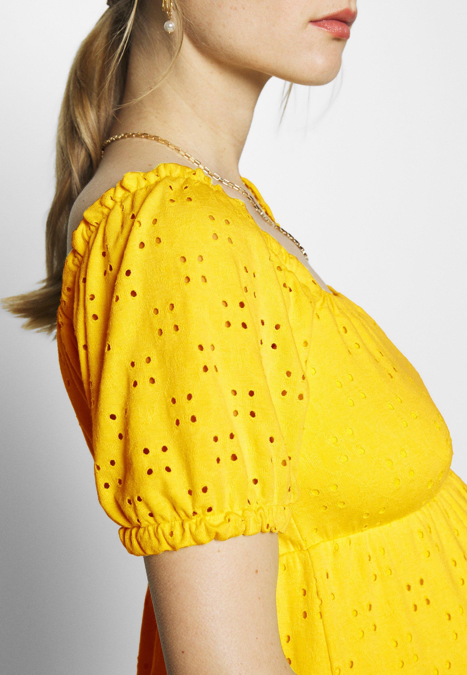 MAMALICIOUS MLMOLLY SHORT DRESS - Jerseykjole - primrose yellow