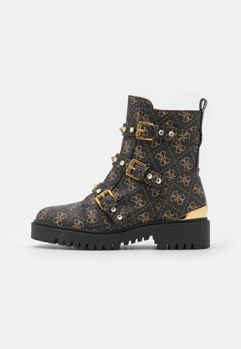 OCEA - Platform ankle boots - brown/ocra
