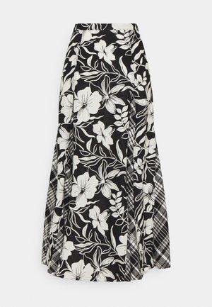 PRINTED - A-line skirt - black