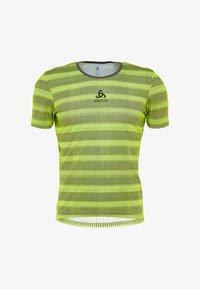 ODLO - CREW NECK ZEROWEIGHT - T-Shirt print - safety yellow/odlo graphite grey - 3