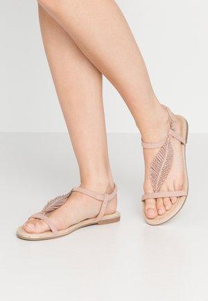 T-bar sandals - rose