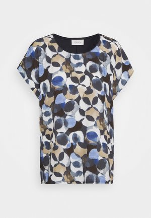 MASSTAB - Print T-shirt - dark blue/taupe