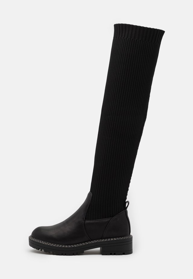 Over-the-knee boots - black