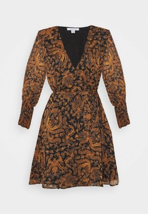 WRAP DRESS - Day dress - brown