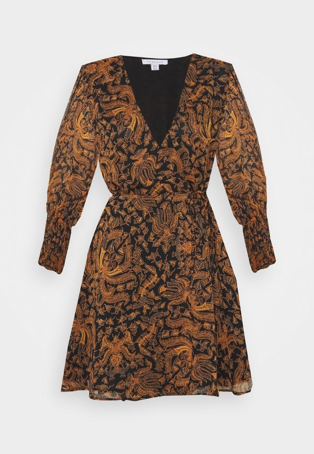 WRAP DRESS - Vestito estivo - brown