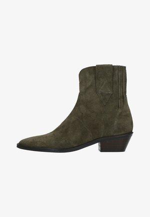 WESTERN - Cowboy/biker ankle boot - grün