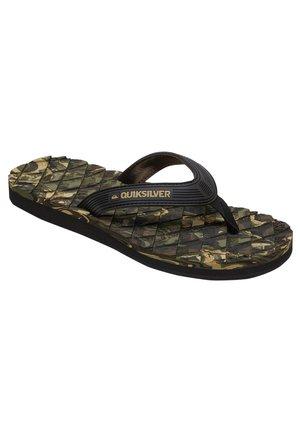 MASSAGE  - Pool shoes - black/green/black
