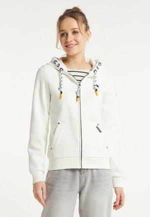 Zip-up sweatshirt - wollweiss