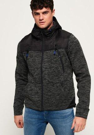 MOUNTAIN - Tröja med dragkedja - black granite marl