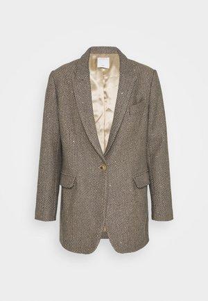 PAULE - Short coat - beige/gris