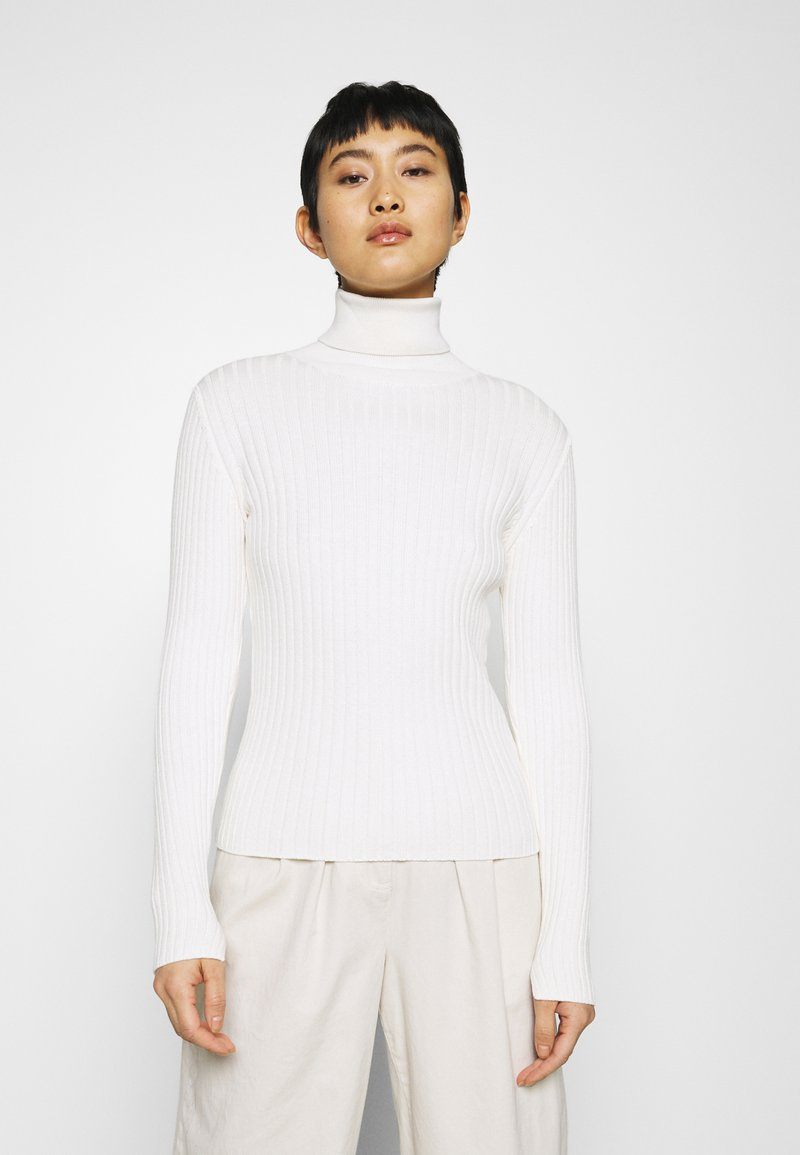 Marc O'Polo - LONGSLEEVE TURTLE NECK STRUCTURE - Svetr - off white