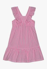 Scotch & Soda - CRISPY DRESS IN YARN DYED STRIPES - Korte jurk - pink/white - 0