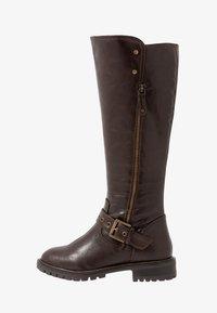 Simply Be - WIDE FIT GWEN KNEE HIGH - Kovbojské/motorkářské boty - brown - 1