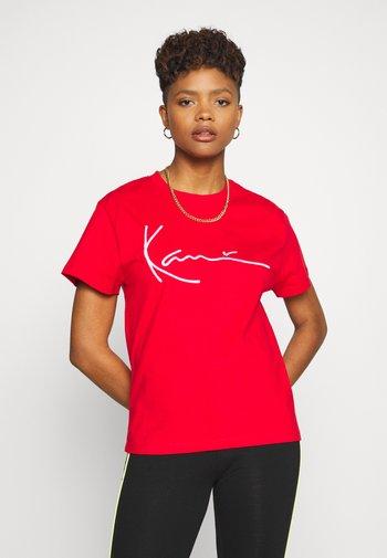SIGNATURE TEE - T-shirt imprimé - red