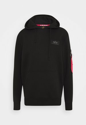 BACK HOODY FOIL - Hoodie - black/chrome