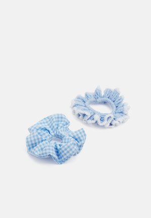 HAILEY SCRUNCHIE 2 PACK - Hair styling accessory - gingham blue/blue