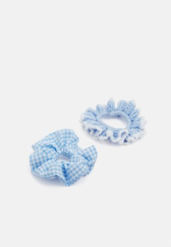 Hair styling accessory - gingham blue/blue