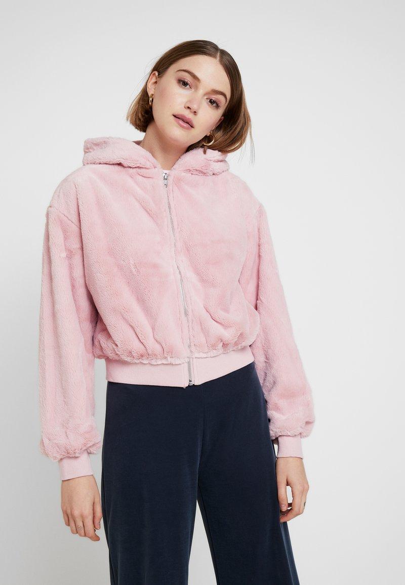 Topshop - ZIP HOODY - Veste légère - pink