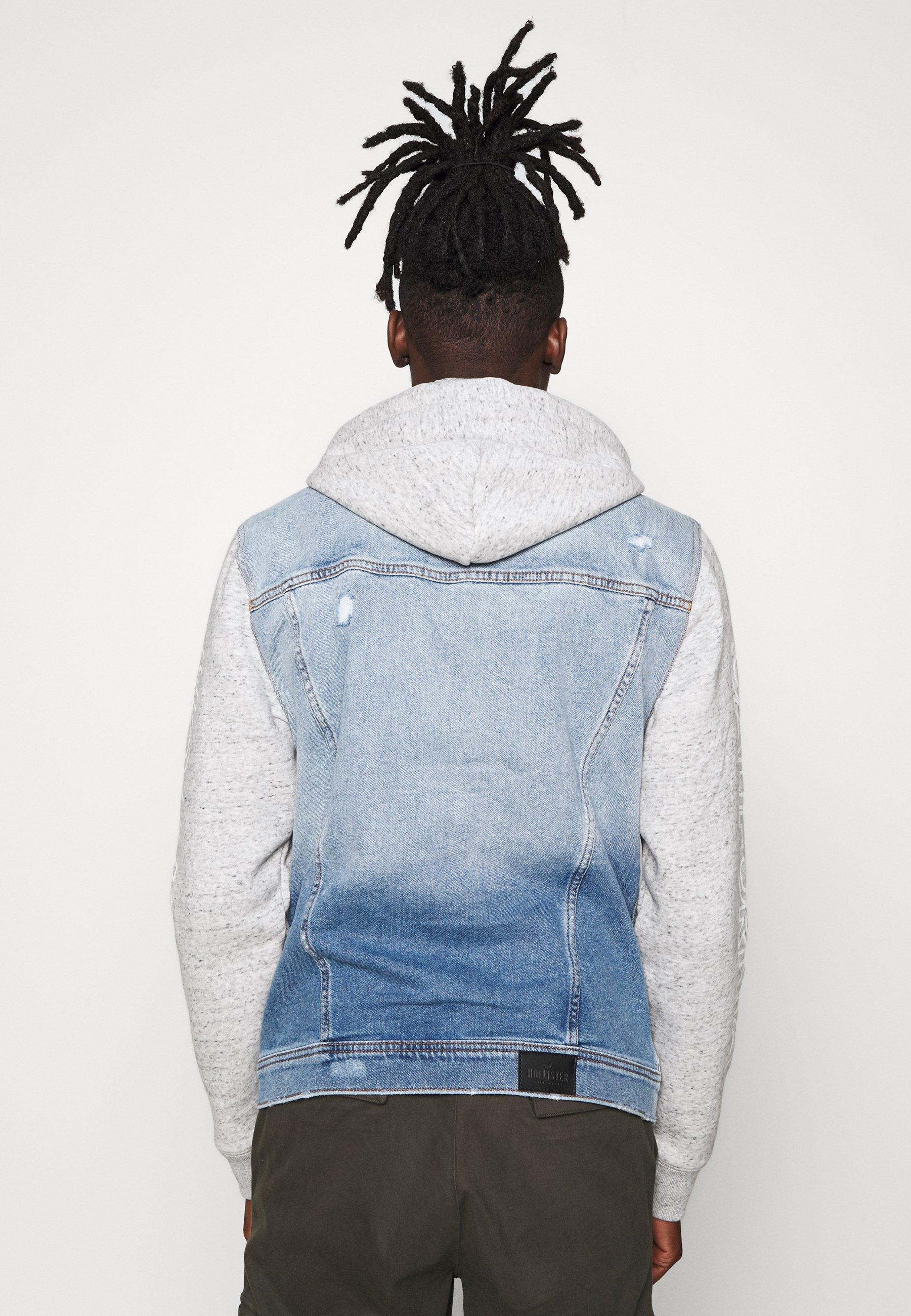 Hollister Co. PRINT GRAPHIC TWOFER - Veste en jean - light denim