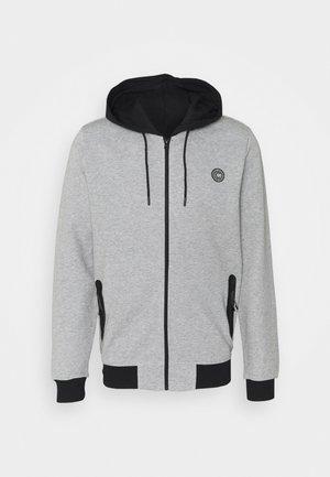 GREASS ZIP - Zip-up hoodie - grey melange