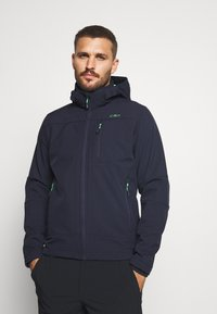 CMP - MAN JACKET ZIP HOOD - Soft shell jacket - blue/verde - 0