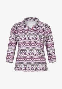 Rabe 1920 - MIT KRAGEN UND GLITZER-DETAILS - Long sleeved top - pink - 0